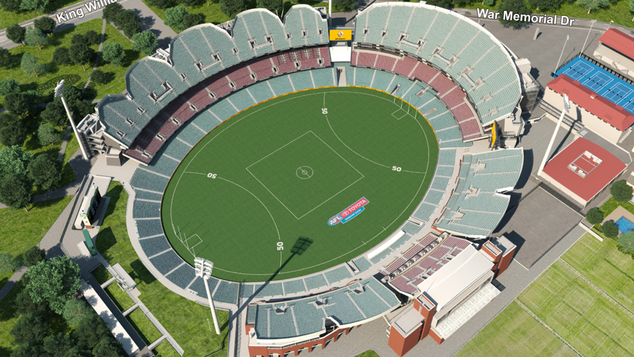 Adelaide Oval Seating Map Port Adelaide Virtual Venue™ by IOMEDIA Adelaide Oval Seating Map